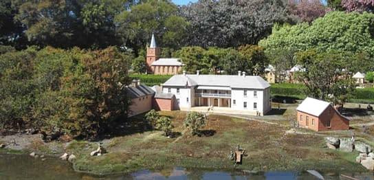 old Hobart town model village in Richmond